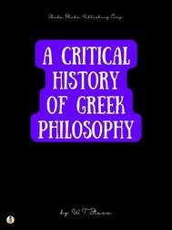 A Critical History of Greek Philosophy - copertina