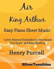 Air King Arthur Easy Piano Sheet Music - copertina