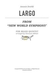 """Antonín Dvořák Largo (from """"New World Symphony"""") for brass quintet - copertina"""