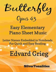 Butterfly Opus 43 Easy Elementary Piano Sheet Music - copertina