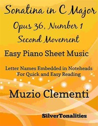 Sonatina in C Major Opus 36 Number 1 Second Movement Easy Piano Sheet Music - Librerie.coop