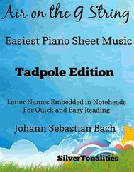 Air on the G String Easiest Piano Sheet Music Tadpole Edition  - copertina