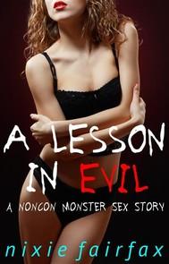 A Lesson in Evil: A Noncon Monster Sex Story - copertina