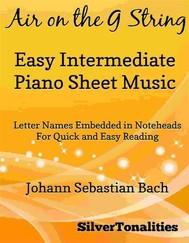 Air on the G String Easy Intermediate Piano Sheet Music - copertina