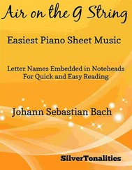 Air on the G String Easiest Piano Sheet Music - copertina