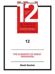 12: The Elements of Great Managing - copertina