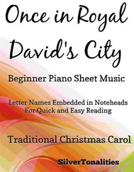 Once in Royal David's City Beginner Piano Sheet Music - copertina