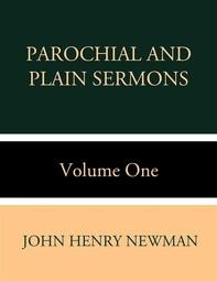 Parochial and Plain Sermons Volume One - Librerie.coop