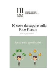 10 Cose da sapere sulla Pace Fiscale - copertina