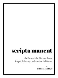 scripta manent - copertina