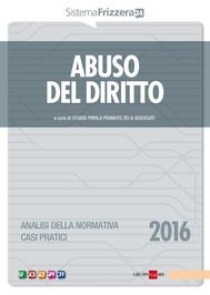 Abuso del diritto 2016 - copertina