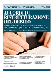 Accordi di ristrutturazione del debito - copertina