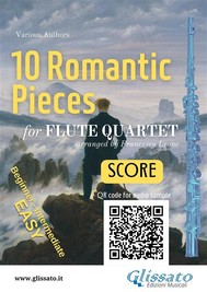10 Romantic Pieces for Flute Quartet (SCORE) - copertina