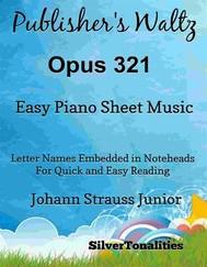 Publisher's Waltz Opus 321 Easy Piano Sheet Music - copertina