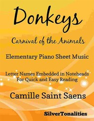 Donkeys Carnival of the Animals Elementary Piano Sheet Music - copertina