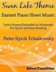 Swan Lake Theme Easiest Piano Sheet Music - copertina