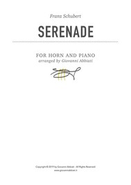 Franz Schubert Serenade for Horn and Piano - copertina