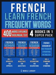 French - Learn French  - Frequent Words (4 Books in 1 Super Pack) - copertina