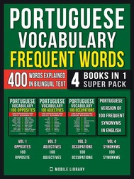 Portuguese Vocabulary - Frequent Words (4 Books in 1 Super Pack) - copertina
