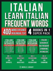Italian - Learn Italian - Frequent Words (4 Books in 1 Super Pack) - copertina