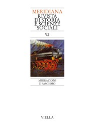 Meridiana 92: Migrazioni e fascismo - copertina