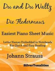 Du and Du Die Fledermaus Waltz Easiest Piano Sheet Music - copertina