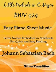 Little Prelude in C Major BWV 924 Easy Piano Sheet Music - Librerie.coop