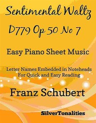 Sentimental Waltz Opus 50 Number 7 Easy Piano Sheet Music - Librerie.coop
