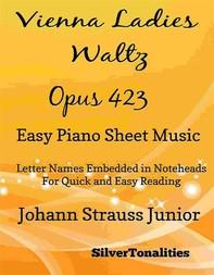 Vienna Ladies Waltz Opus 423 Easy Piano Sheet Music - Librerie.coop