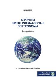 Appunti di diritto internazionale dell'economia - copertina
