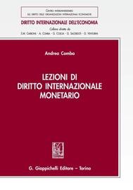 Lezioni di diritto internazionale monetario - copertina