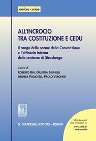 All'incrocio tra Costituzione e CEDU - copertina