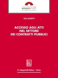 Accesso agli atti nel settore dei contratti pubblici - copertina