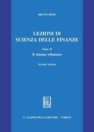 Lezioni di scienza delle finanze Parte II. Il sistema tributario - copertina