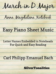 March In D Major Anna Magdalena Notebook Easy Piano Sheet Music - Librerie.coop
