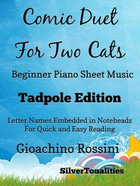 Comic Duet for Two Cats Beginner Piano Sheet Music Tadpole Edition - Librerie.coop