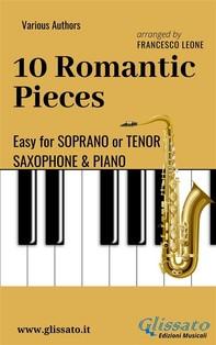 10 Romantic Pieces - Easy for Soprano/Tenor Sax and Piano - Librerie.coop