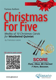 Christmas for Five - Woodwind Quintet - Librerie.coop