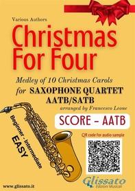 Christmas for four - Saxophone Quartet (score & parts) - Librerie.coop