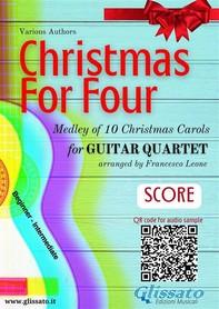 Christmas for four - Easy Guitar Quartet (score & parts) - Librerie.coop