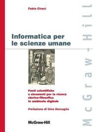 Informatica per le scienze umane - copertina