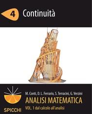 Analisi matematica I.4 Continuità (PDF - Spicchi) - copertina