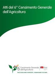 Atti del 6° Censimento Generale dell'Agricoltura - copertina