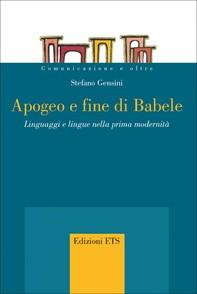 Apogeo e fine di Babele - Librerie.coop