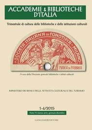 Accademie & Biblioteche 1-4/2015 - copertina