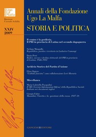 Annali della Fondazione Ugo La Malfa XXIV-2009 - copertina