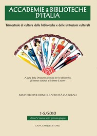 Accademie & Biblioteche d'Italia 1-2/2010 - copertina