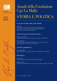 Annali della Fondazione Ugo La Malfa XXV - 2010 - copertina