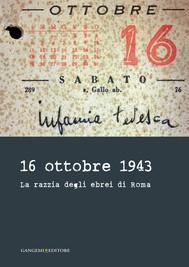 16 ottobre 1943 - copertina