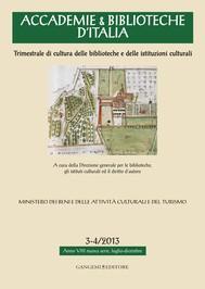 Accademie & Biblioteche d'Italia 3-4/2013 - copertina